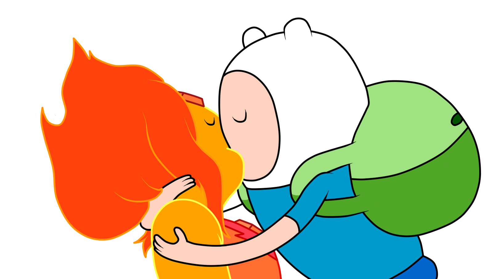 Image - Finn and flame princess kiss 2 day color by julietsbart