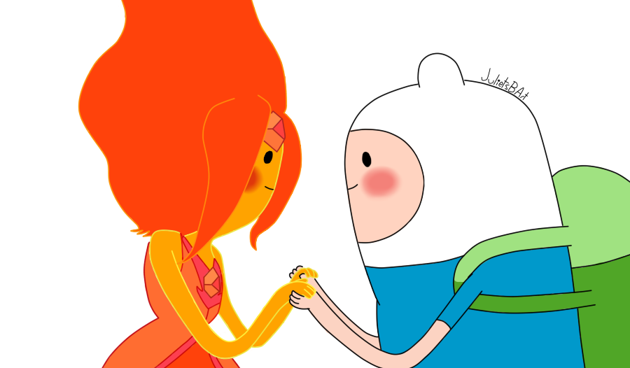 Finn and flame princess by julietsbart d4prg7t.png The Adventure ...