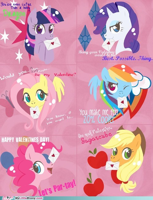 Image - My-little-pony-friendship-is-magic-brony-mane-six-valentines