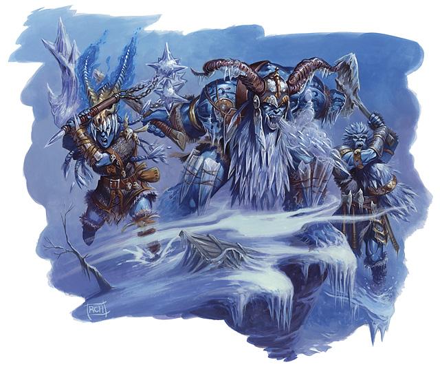 Resumen de lo sucedido (Falta ampliarlo hasta el encuentro con los mercenarios e inicio del viaje hacia el Este) Frost_giant