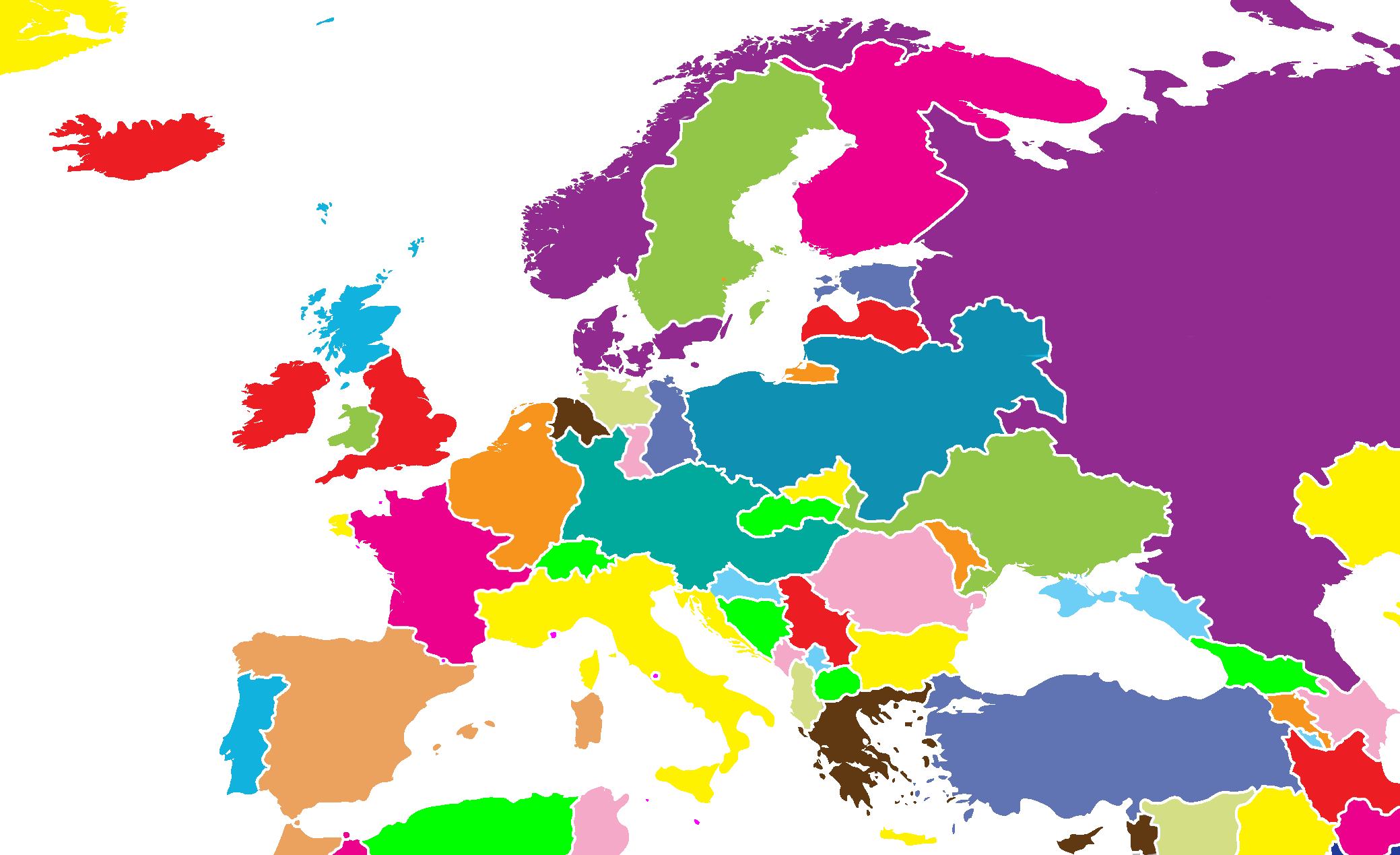 Current Map Of Europe 2011