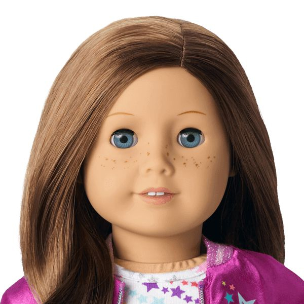 AMERICAN GIRL DOLL~ JUST LIKE YOU~ BROWN HAIR, BLUE EYES ...