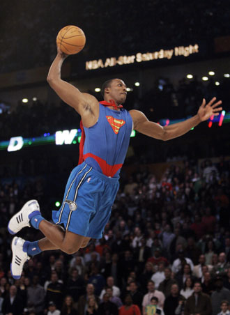 dwight howard superman dunk pictures. Slam Dunk contest