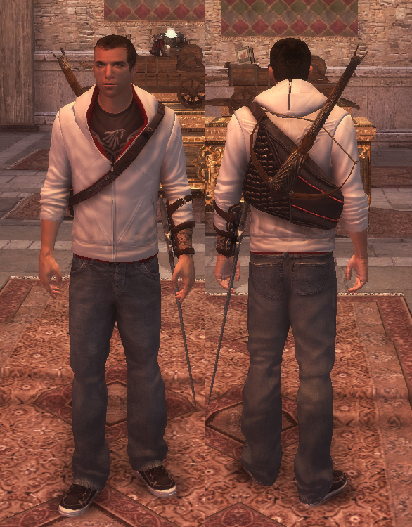 Ezio Brotherhood http://assassinscreed.wikia.com/wiki/File:Ezio-desmond-brotherhood.png