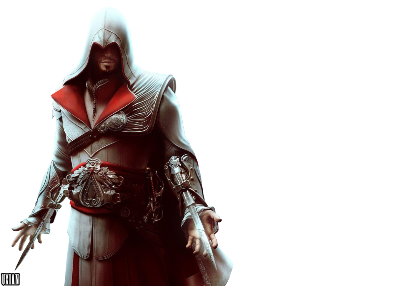 Ezio Brotherhood http://it.assassinscreed.wikia.com/wiki/File:Ezio_auditore_brotherhood.png