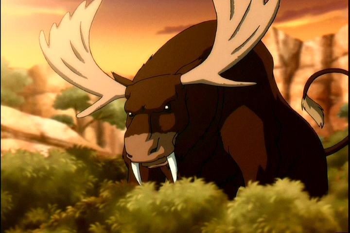 Saber tooth moose lion