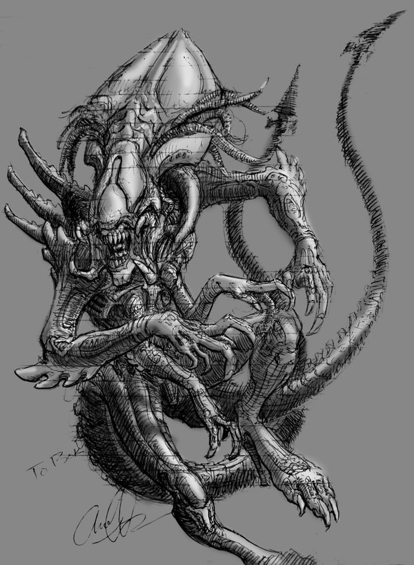 Alien Hybridz: Predalien Queen W/ Warriors (Alien vs ...