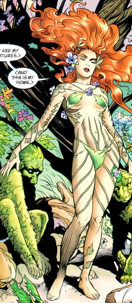 Batman poison ivy kiss comics