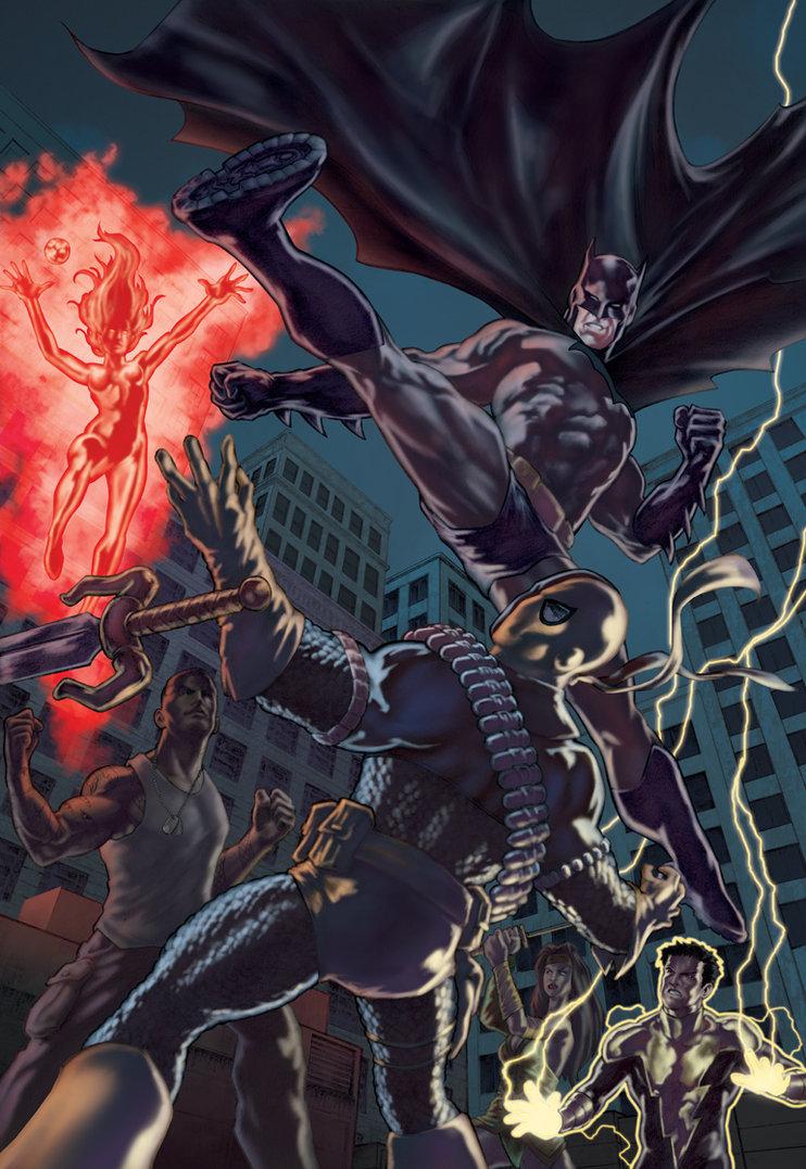 Image batman vs deathstroke batman wiki