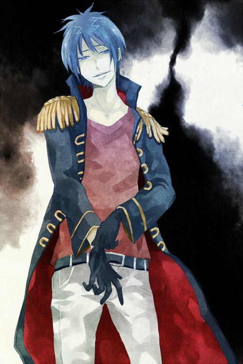 I knew you were trouble. 43616_-_blue_hair_Daemon_Spade_gloves_katekyo_hitman_reborn_military_uniform