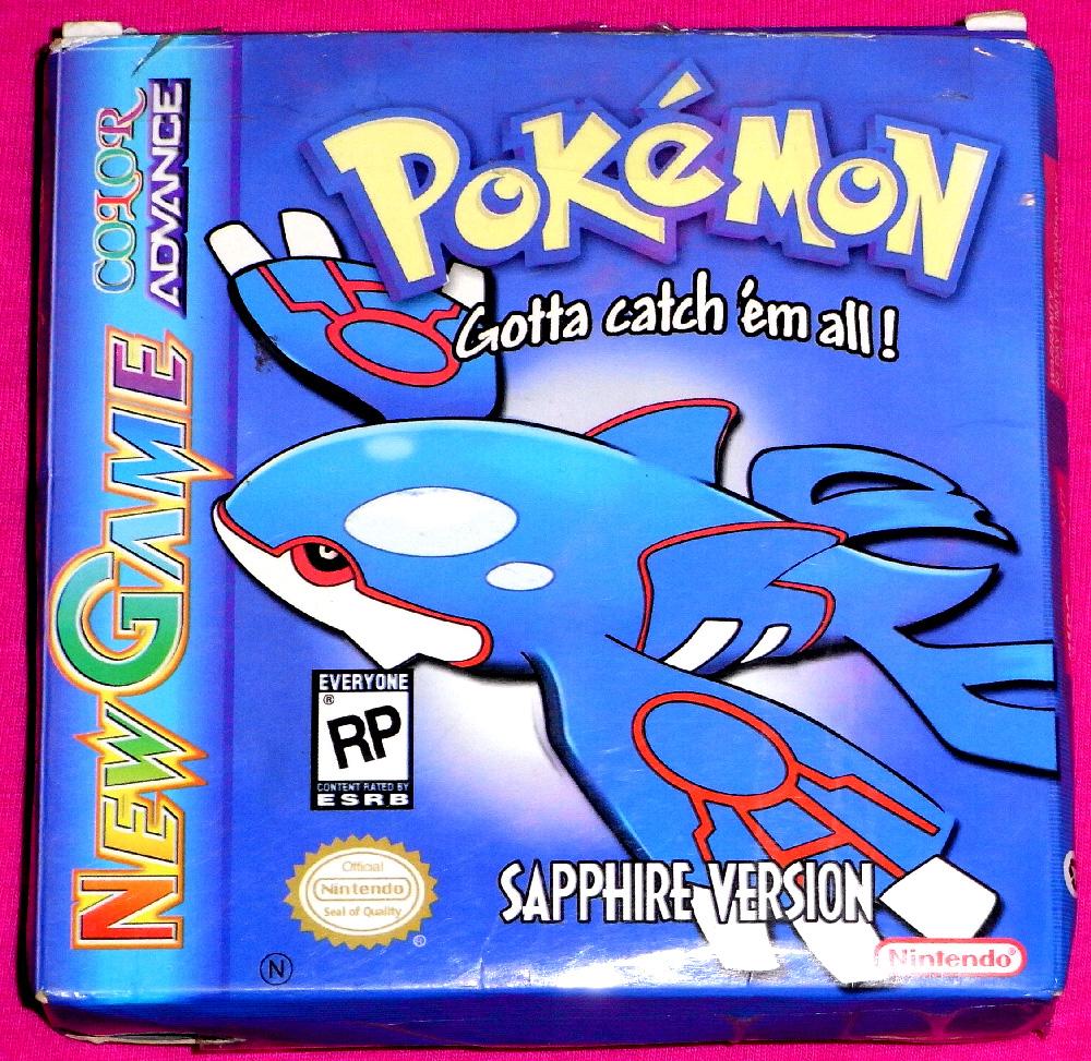 Game boy advance pokemon ruby sapphire version pokemon pokemon