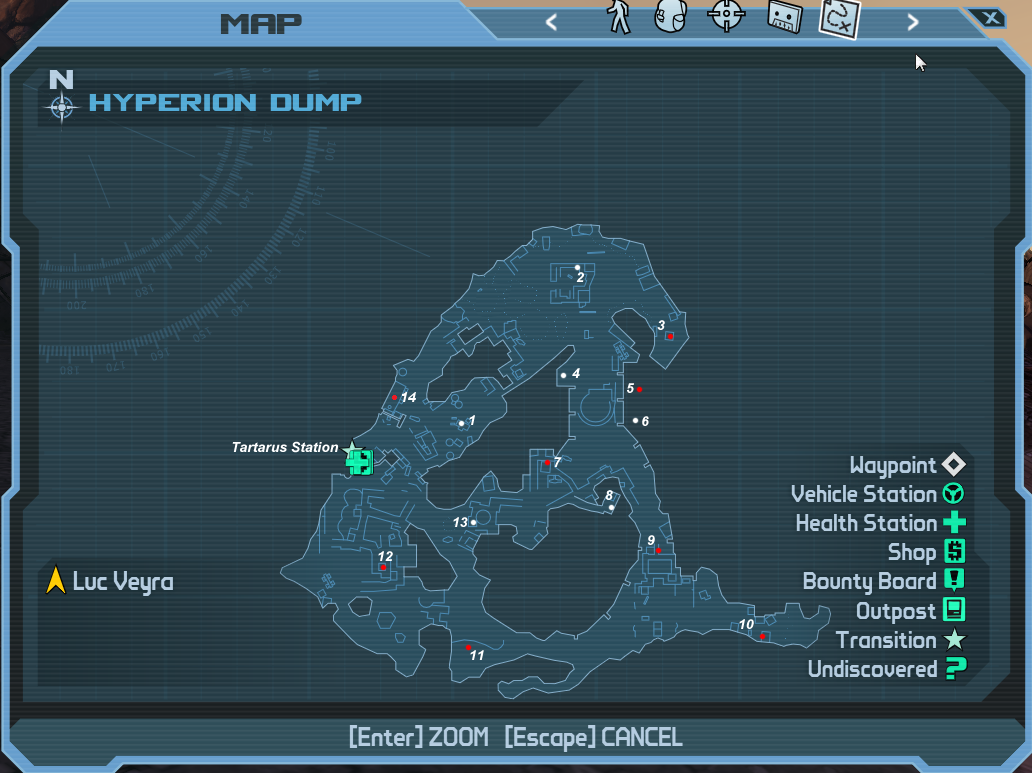 Hyperion tree location