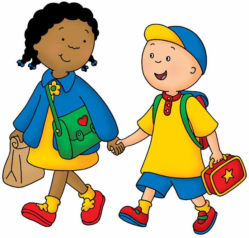 Walking In Love Clip Art: Caillou Clementine.jpg