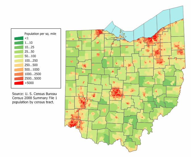Elevation Wood Density : Mapping ohio