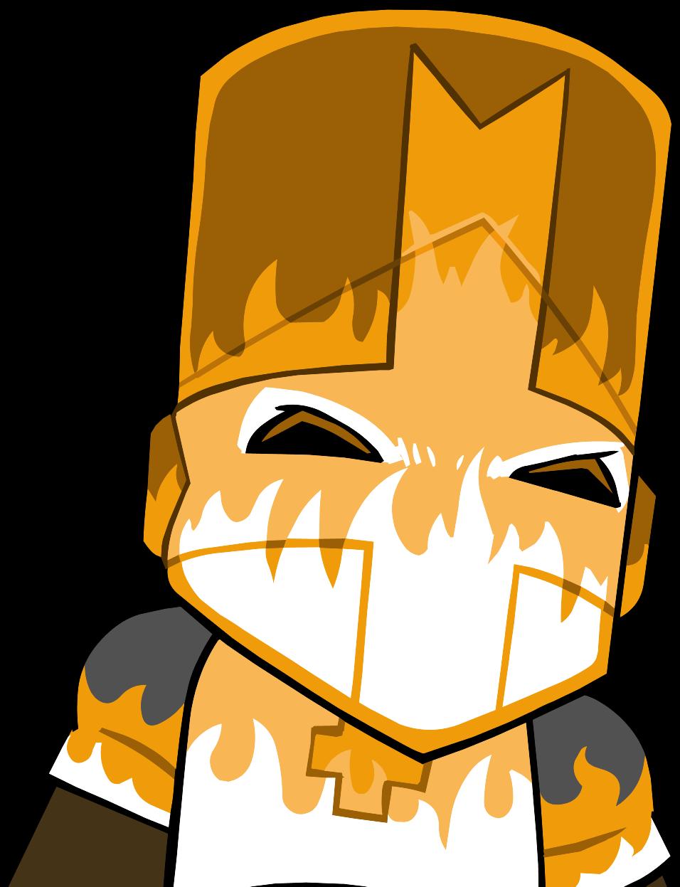Castle crashers orange knight minecraft skin
