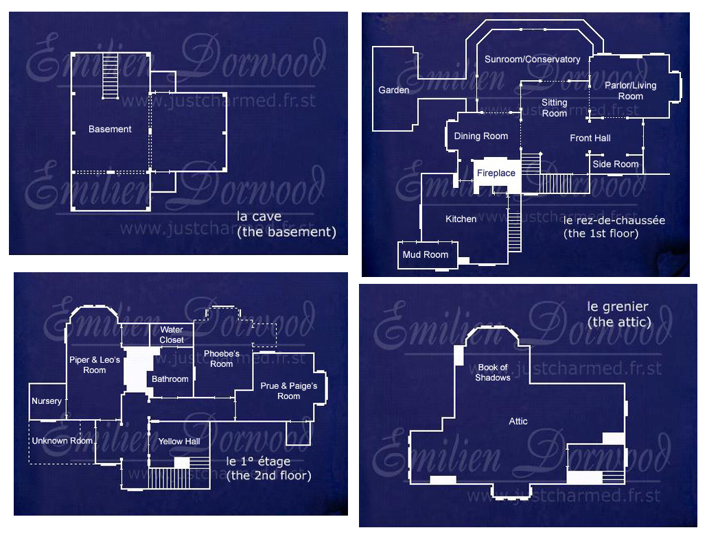 Mod the sims halliwell manor for Manor floor plans
