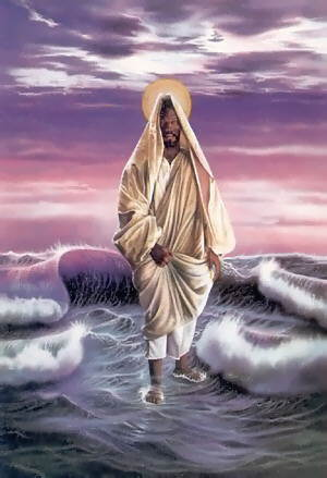 pictures of jesus walking on water. Jesus