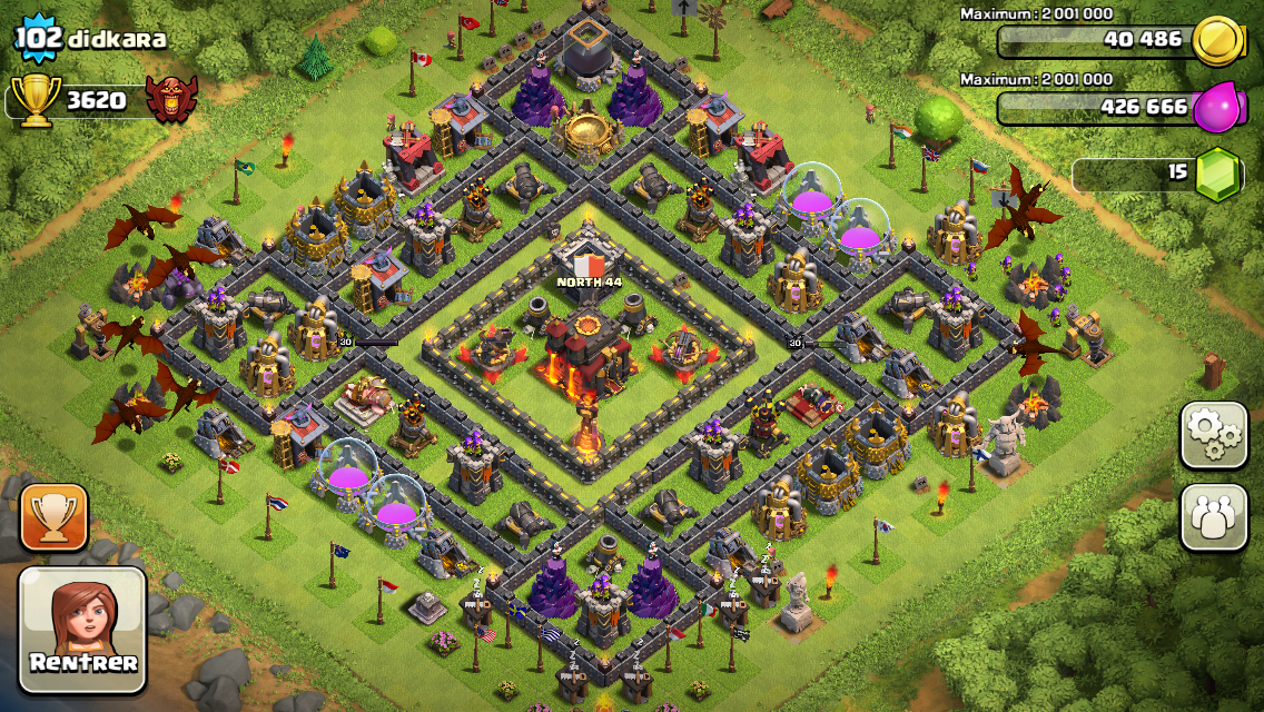 clasch of clans th10