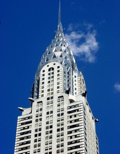 The Chrysler Building is an Art Deco skyscraper in New York City,