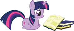 FANMADE_Twilight_Sparkle_reading_a_book_