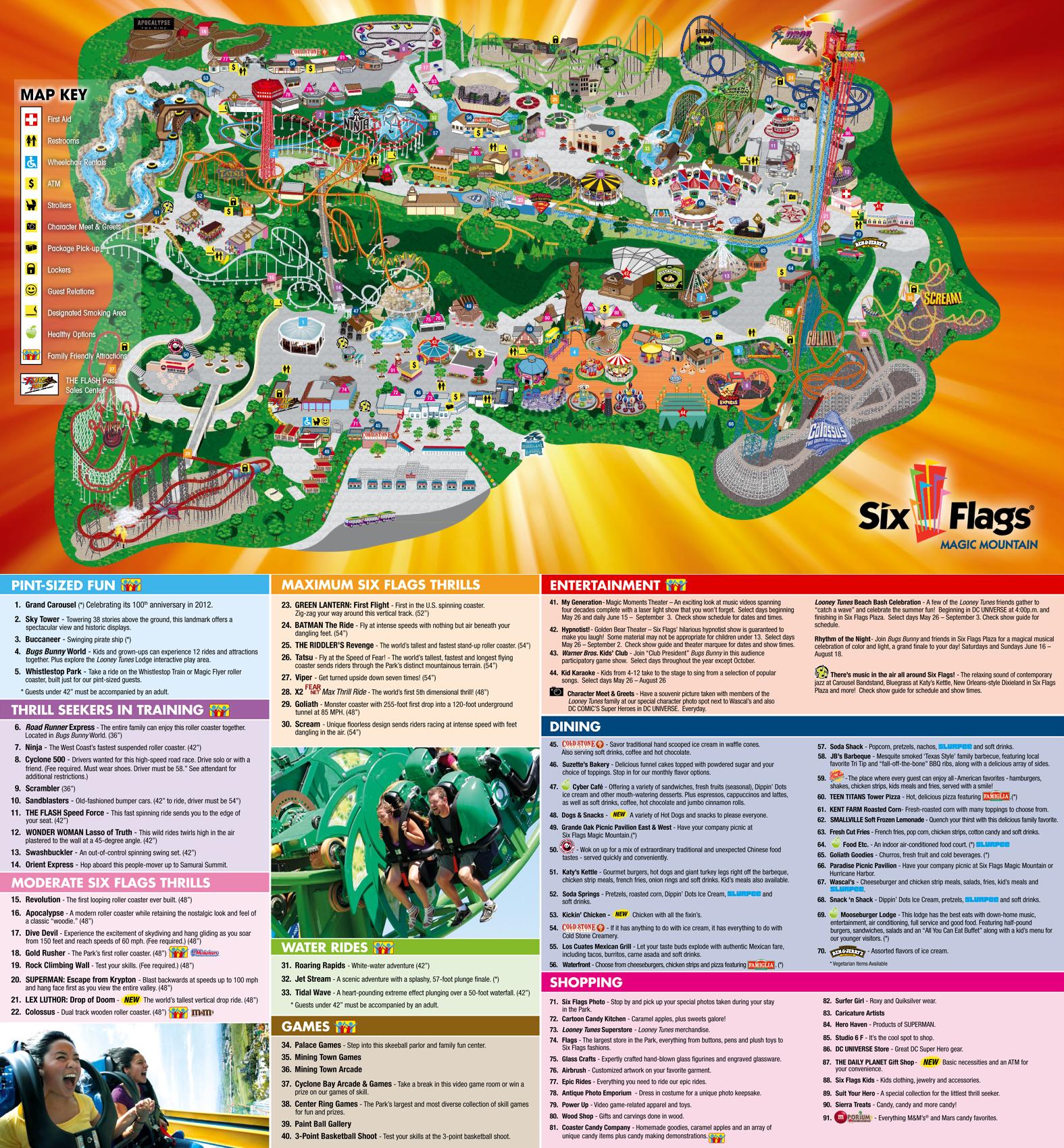 Six Flags Magic Mountain Roller Coaster Wiki Fandom