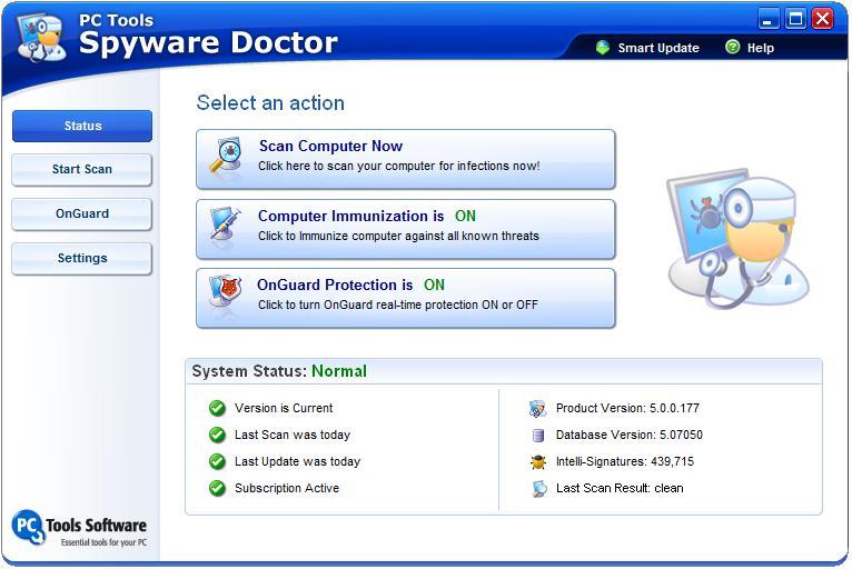 Spyware Doctor. Выбрать главу.