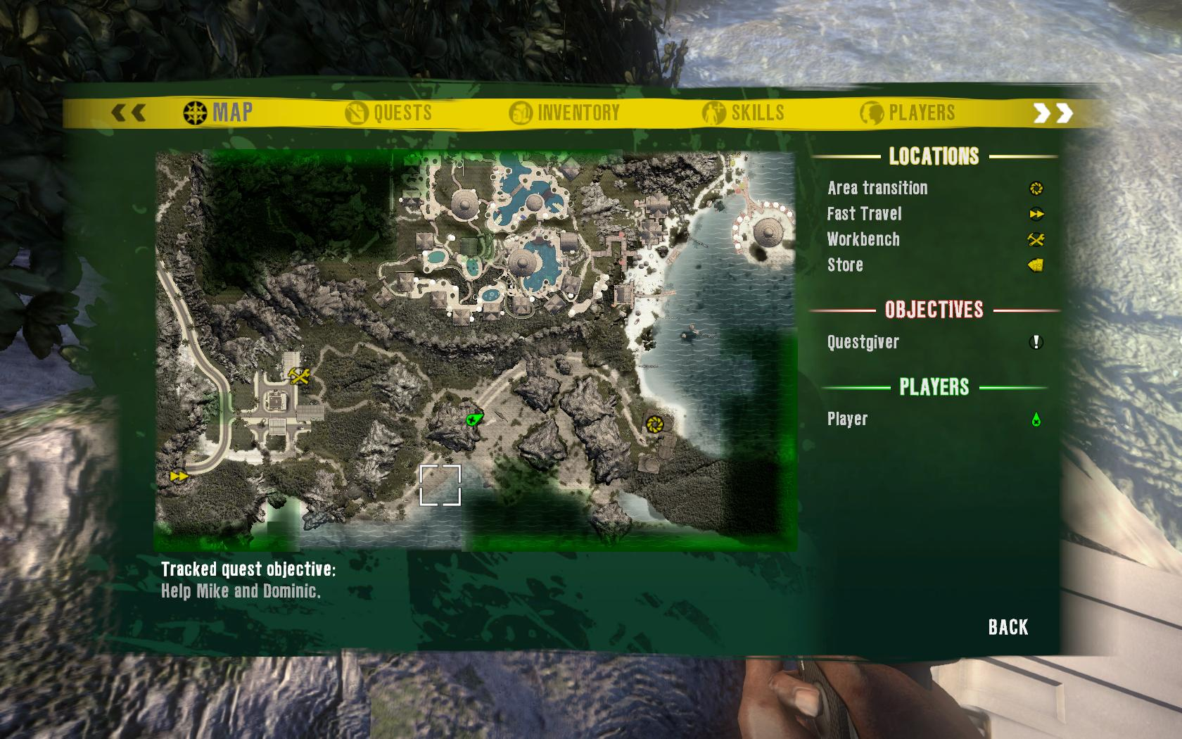 Dead Island Green Skull Location Map