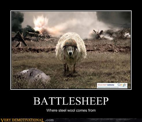 Demotivational posters battlesheep