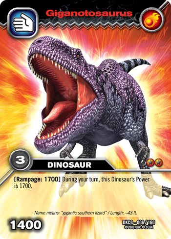 Size of this preview  342   215  479 pixels   Other resolution  171   215  240    Dinosaur King Megalosaurus Card