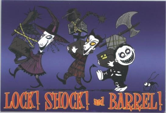 Image - Nightmare before christmas sticker lock shock and barrel.jpg ...