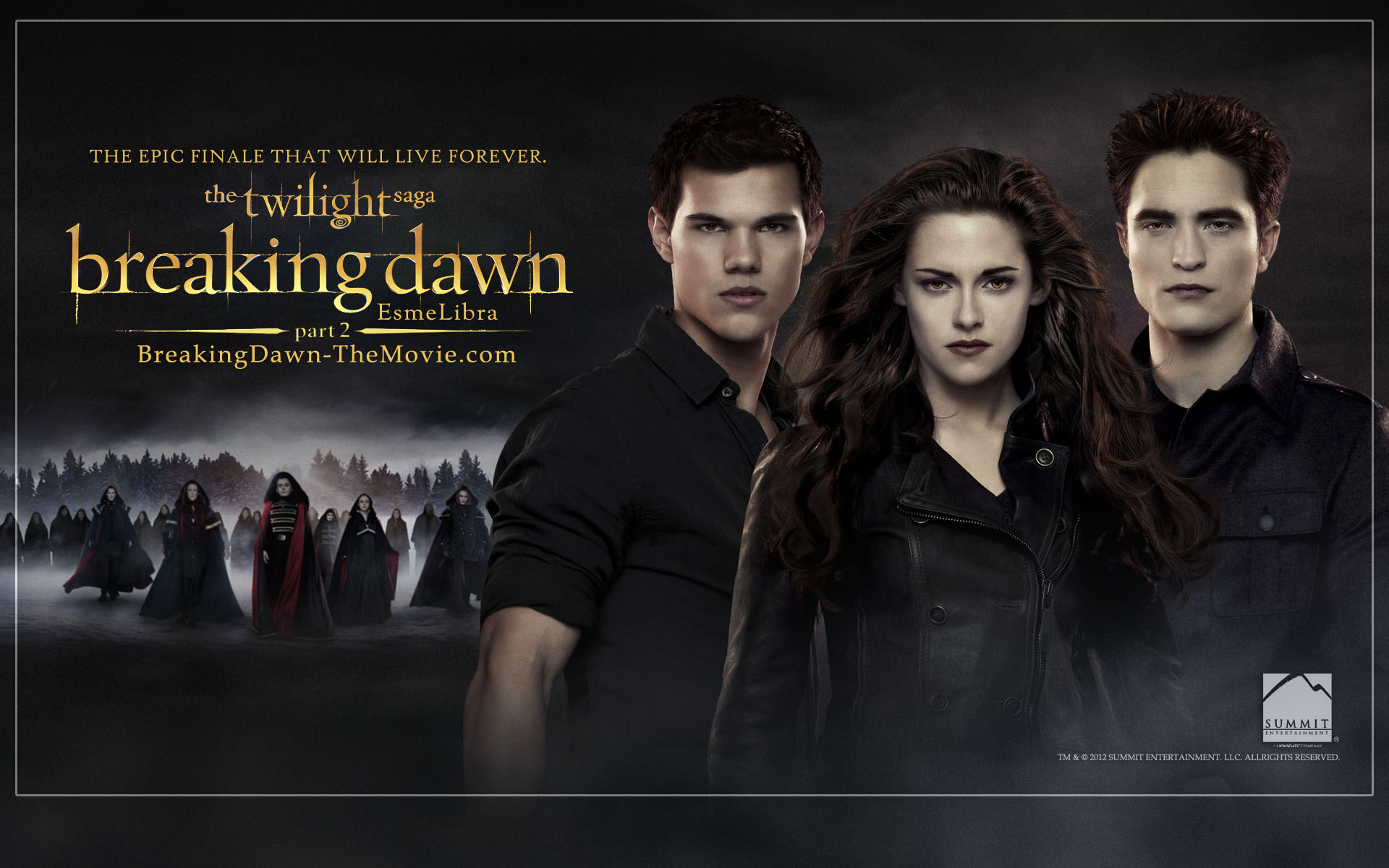 Image breaking dawn part 2 wallpaper twilight series - Twilight breaking dawn wallpaper ...