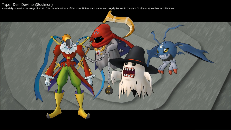 Demidevimon Evolution Line Image - DemiDevimon (S...
