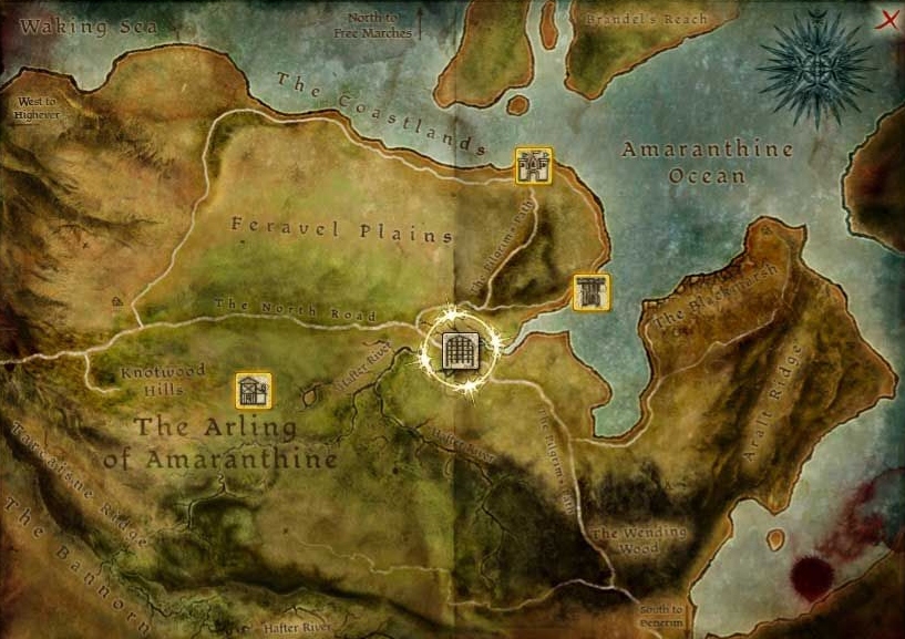here to the right is the map of Amaranthine that is used in Awakening.