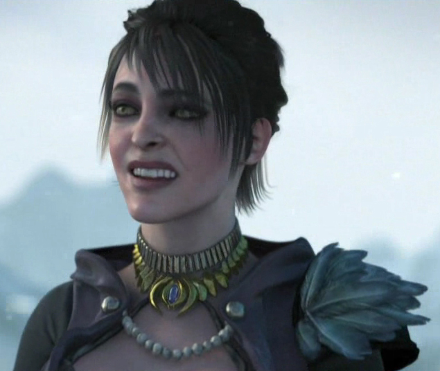 "Morrigan is a ""Witch of the Wilds"", a clan of sorceresses who, at one time,"