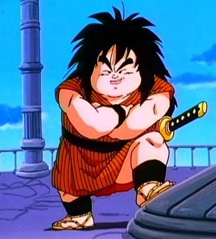 Personaje favorito de Dragon Ball Yajirobe_retirado_completamente_de_la_lucha,_en_la_Torre_de_Karin