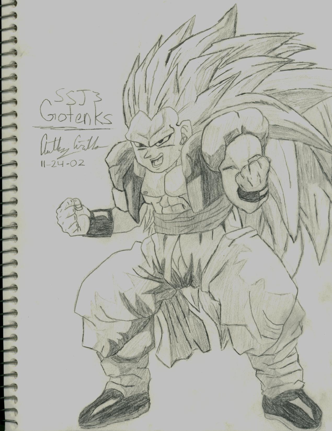 Image - Gotenks SSJ3 Drawing.jpg - Dragon Ball Wiki - photo#44