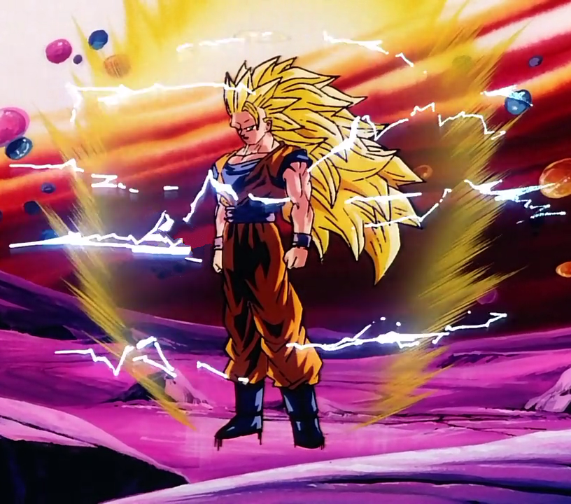 13] Super Saiyan 3 Goku charging his energy