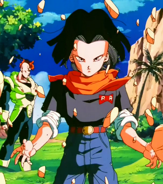 8android 17 prepares to fight by beadtmdcthe fight is an apparent draw until cellu0027s arrival interrupts the match ironically cell is able to