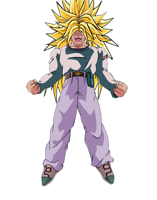 Dragon Ball Z Super Saiyan Goten. Goten rushed at Goku and