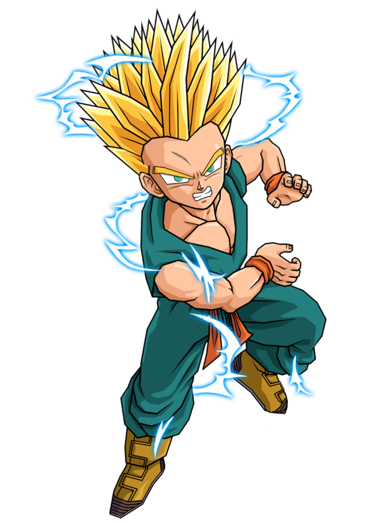 Pin Kid Trunks Ssj2 By Spongeboss D2zpxlx Png On Pinterest