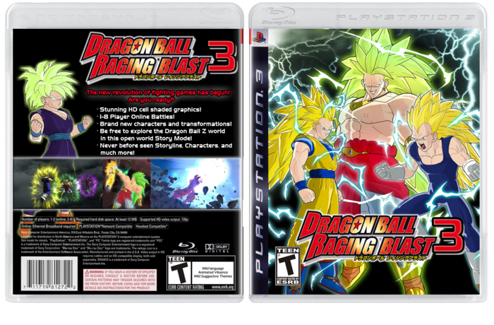 Super Saiyan 3 Broly Raging Blast. Dragon Ball: Raging Blast 3