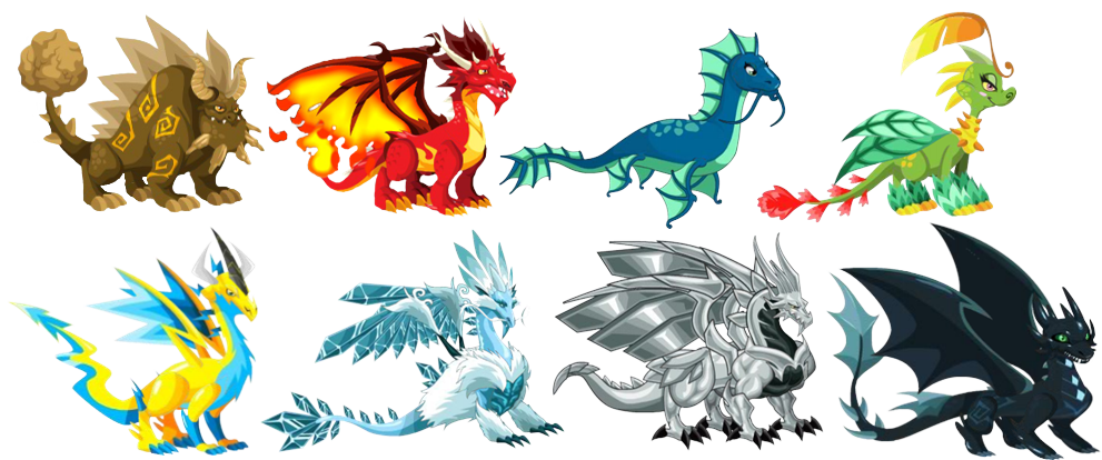 Archivo:Dragones Elementales.png - Wiki Dragon City