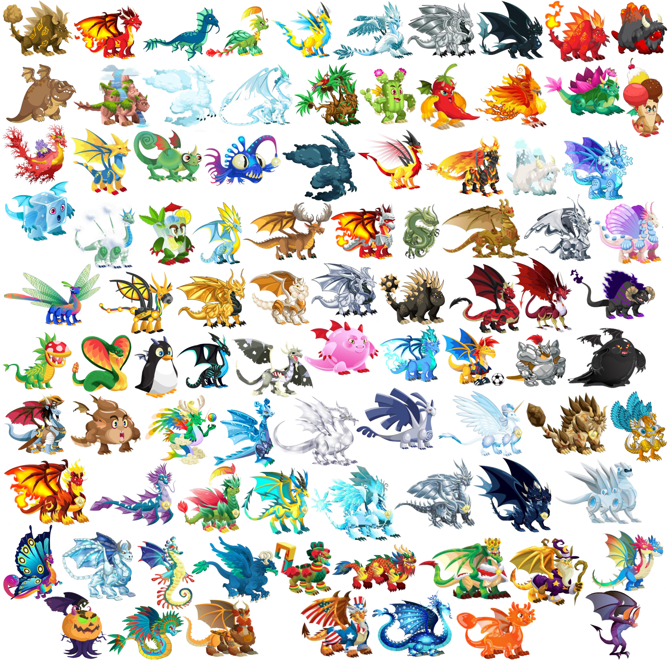 Image - ALL DRAGONS.png - Dragon City Wiki