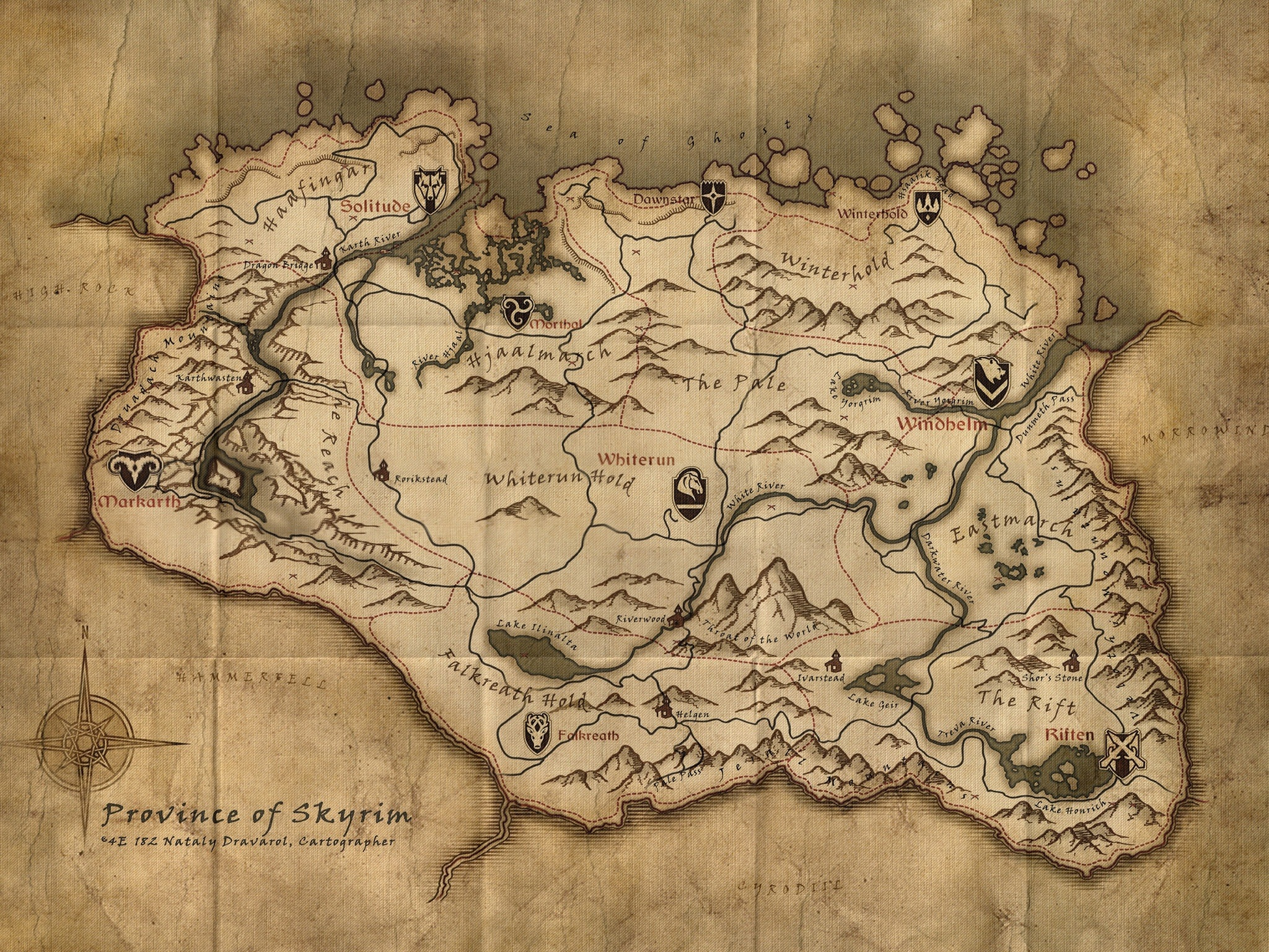 Map of skyrim bintoenglish The Elder Scrolls V: Skyrim Review