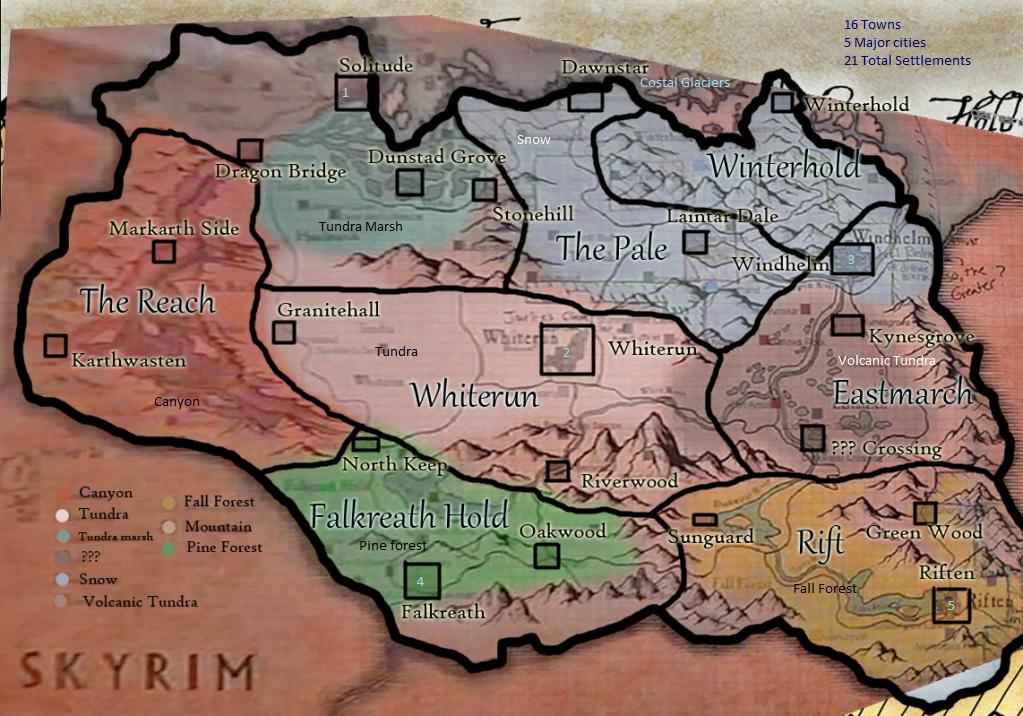 خريطة لعبة skyrim خريطة skyrim skyrim