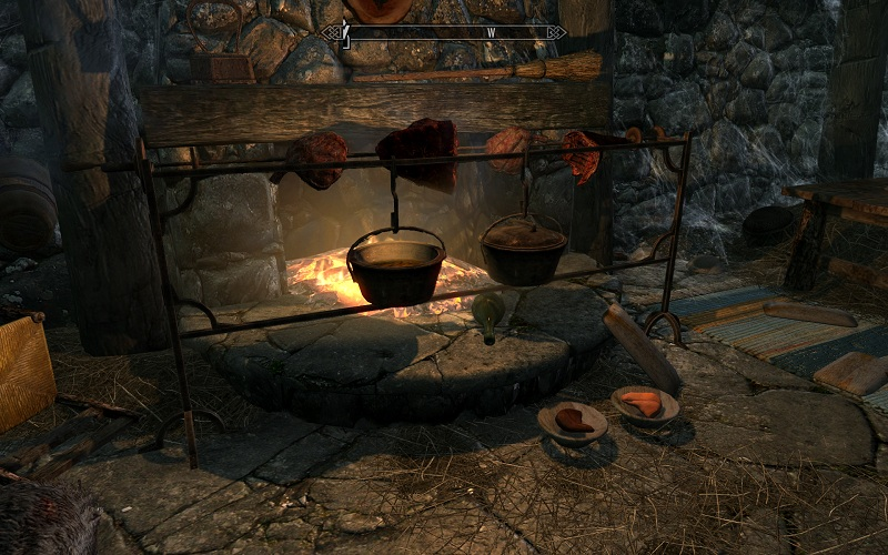 how to build a campfire in skyrim