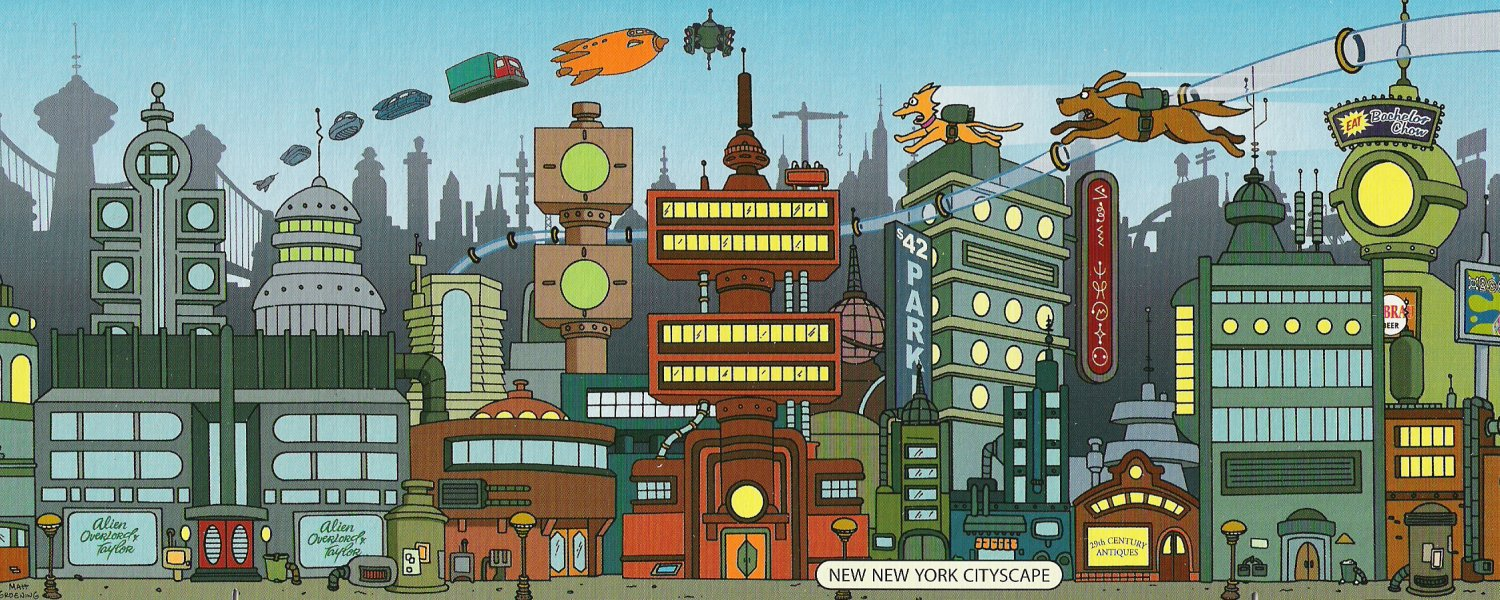 Image new new york cityscape futurama wiki the futurama