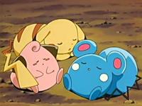 Hora de Descansar EP411_Pikachu,_Cleffa_y_Azurill_durmiendo