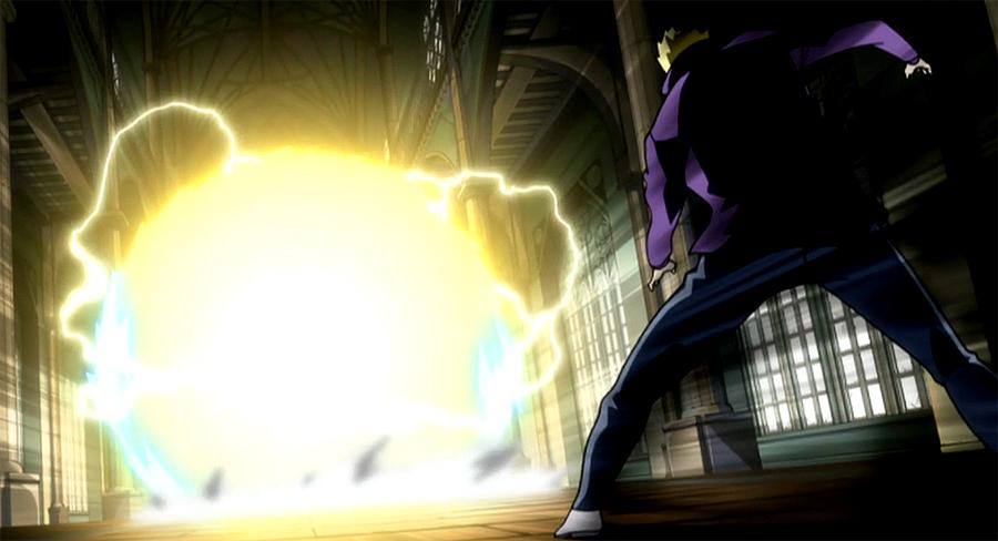 les attaques les armures et les  clefs des personnage principaux  Laxus's_Raging_Bolt