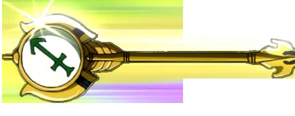 les attaques les armures et les  clefs des personnage principaux  Sagittarius_Key